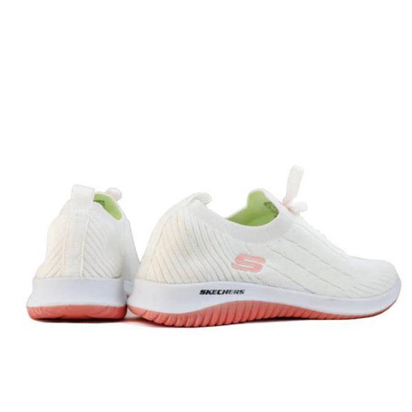 کفش اسکیچرز زنانه جورابی سفید