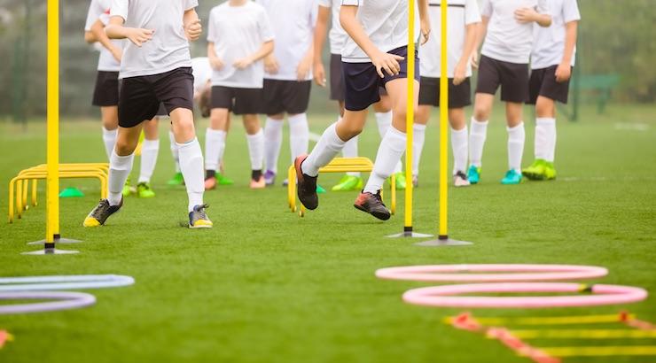 تمرین گرم کردن قبل از فوتبال