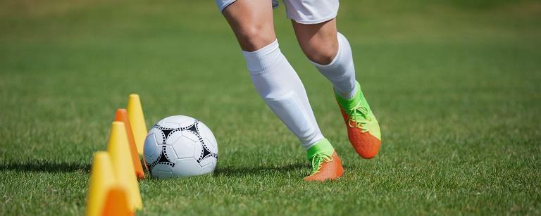 تمرین دریبل فوتبال